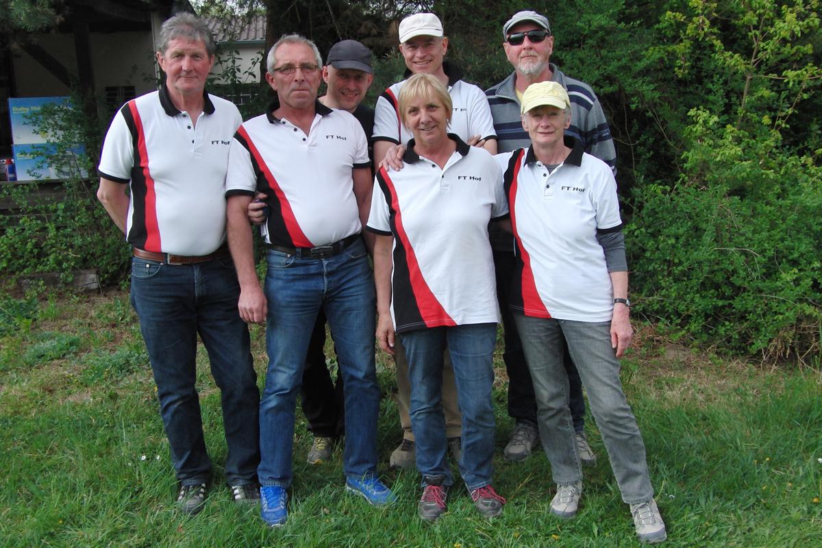 Das Bayernligateam: (v.l.n.r.) Tita Vecile, Fritz Effenberg, Andreas Möslein, Lore Vecile, Hellmuth Platz, Susanne Lenz, Karl-Heinz Wied