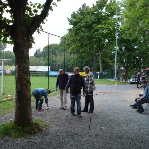 Finale B-Turnier Heike, Norbert, Klaus und Björn (v.l.n.r.)