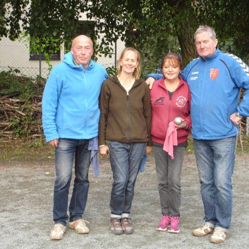 Die Finalisten Wolfgang, Andrea, Katarina und Tita (v.l.n.r)